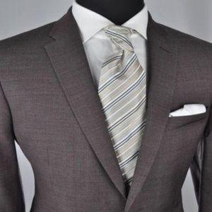 *Recent* John Varvatos Brown Modern 2Btn Suit